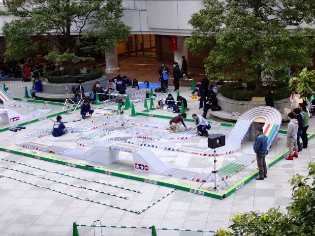スプリンググランプリ2013東京大会の準備をしている様子