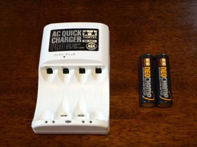 単3形ニッケル水素電池ネオチャンプ(2本)と急速充電器PRO