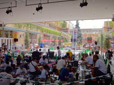 ミニ四駆ジュニアカップの会場の様子