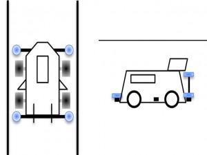 ガイドローラーの取り付け例(前+後)