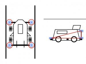 ガイドローラーの取り付け例のイメージ