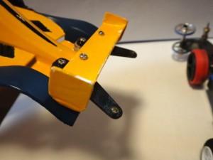 改造したブラストアローのボディ後部のアップ(表側)