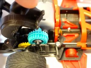 バンガードソニック(フルカウルミニ四駆)に取り付けたワンロックギヤカバーその2