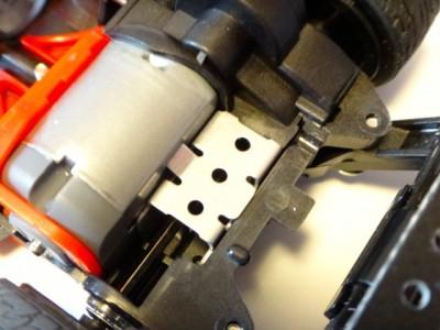 バンガードソニック(フルカウルミニ四駆)に取り付けたアルミモーターサポート