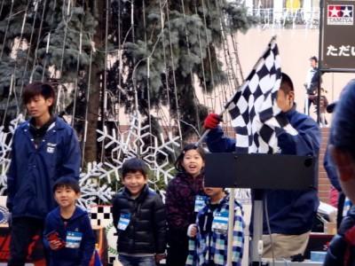 ミニ四駆ジュニアカップ・トレッサ横浜杯2013[秋]レースでゴールした時の様子