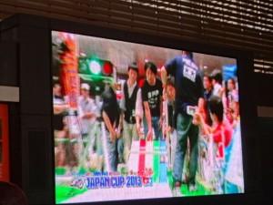 ミニ四駆ジュニアカップ・トレッサ横浜杯2013[秋]イベント会場に設置された大型ディスプレイの映像その2