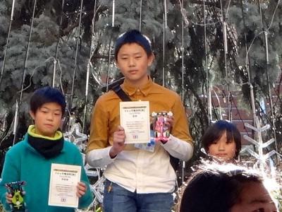ミニ四駆ジュニアカップ・トレッサ横浜杯2013[秋]表彰台の様子