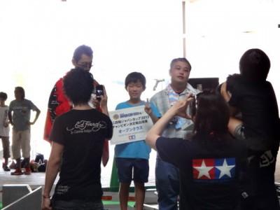2013ジャパンカップ愛知大会オープンクラス表彰台の様子