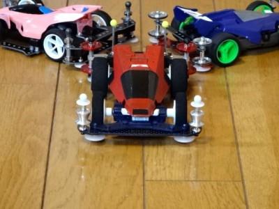 3台のミニ四駆