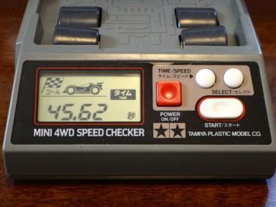 両軸用のギヤシャフト・ベアリングを入れない場合の走行タイム(1走目)