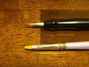 筆(塗装に使う道具)