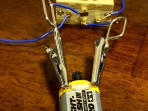 モーター慣らし機とモーターの接合部分
