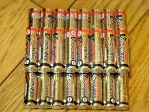 検証で使うアルカリ電池たち