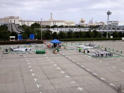 ジャパンカップ2014東京大会3コース設営の様子