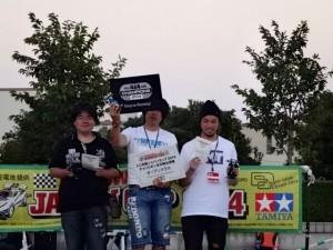 ジャパンカップ2014東京大会オープンクラスの表彰の様子