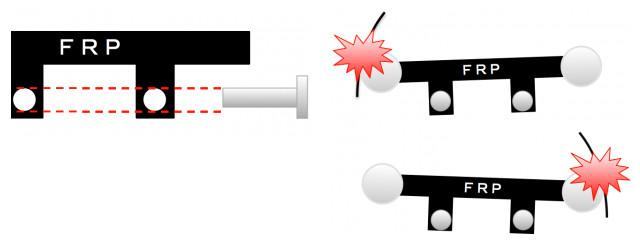プレートのビス穴の説明