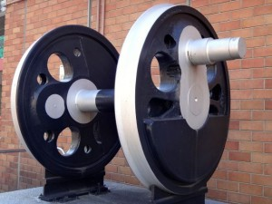 蒸気機関車の車輪
