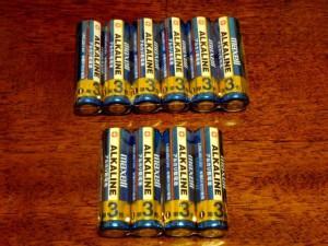 走行タイムに使ったアルカリ電池