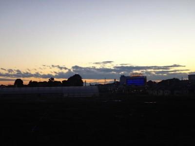 11月の夕焼けの空
