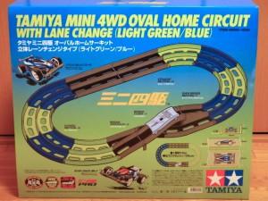 ミニ四駆 オーバルホームサーキット 立体レーンチェンジタイプ(ライトグリーン/ブルー)